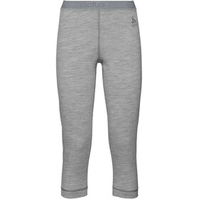 Odlo SUW Natural 100% Merino Warm 3/4 Pants Women grey melange/grey melange
